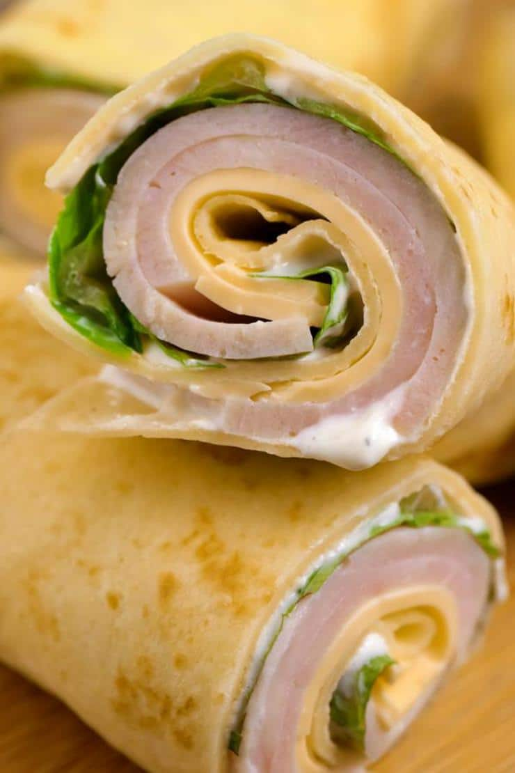 Keto Low Carb Turkey Cream Cheese Wraps – Ketogenic Diet Recipe Roll Ups – Appetizers – Side Dish – Lunch – Dinner – Completely Keto Friendly & Beginner