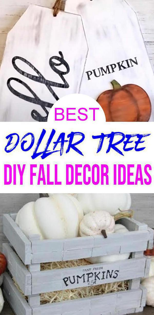 Fall Decor – DIY Dollar Store Fall Decoration Ideas & Hacks – Fall Home Decor On A Budget - Farmhouse Inspired