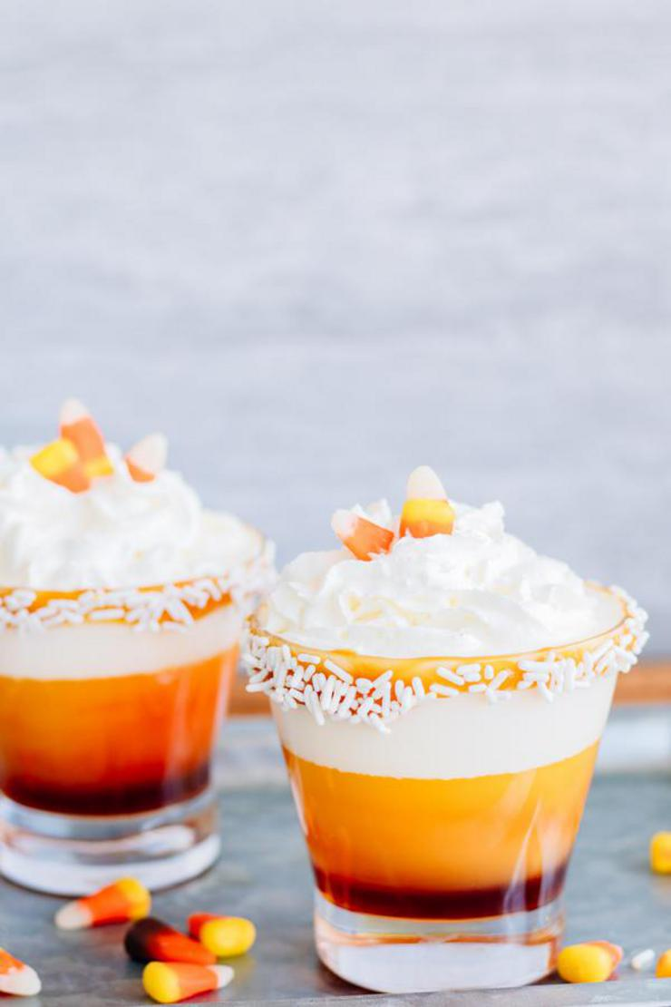 Alcoholic Drinks – BEST Candy Corn Vodka Cocktail Recipe – Easy and Simple Fall Cocktail Alcohol Drinks - Halloween Boozy Idea