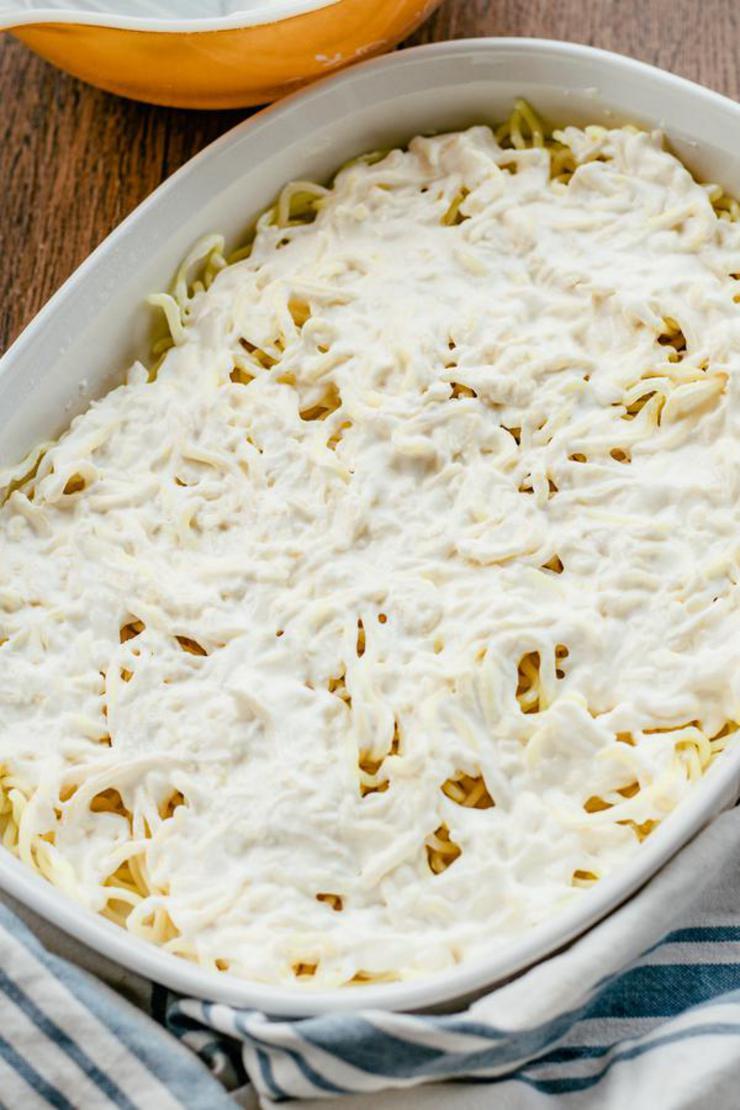Keto Baked Cream Cheese Spaghetti