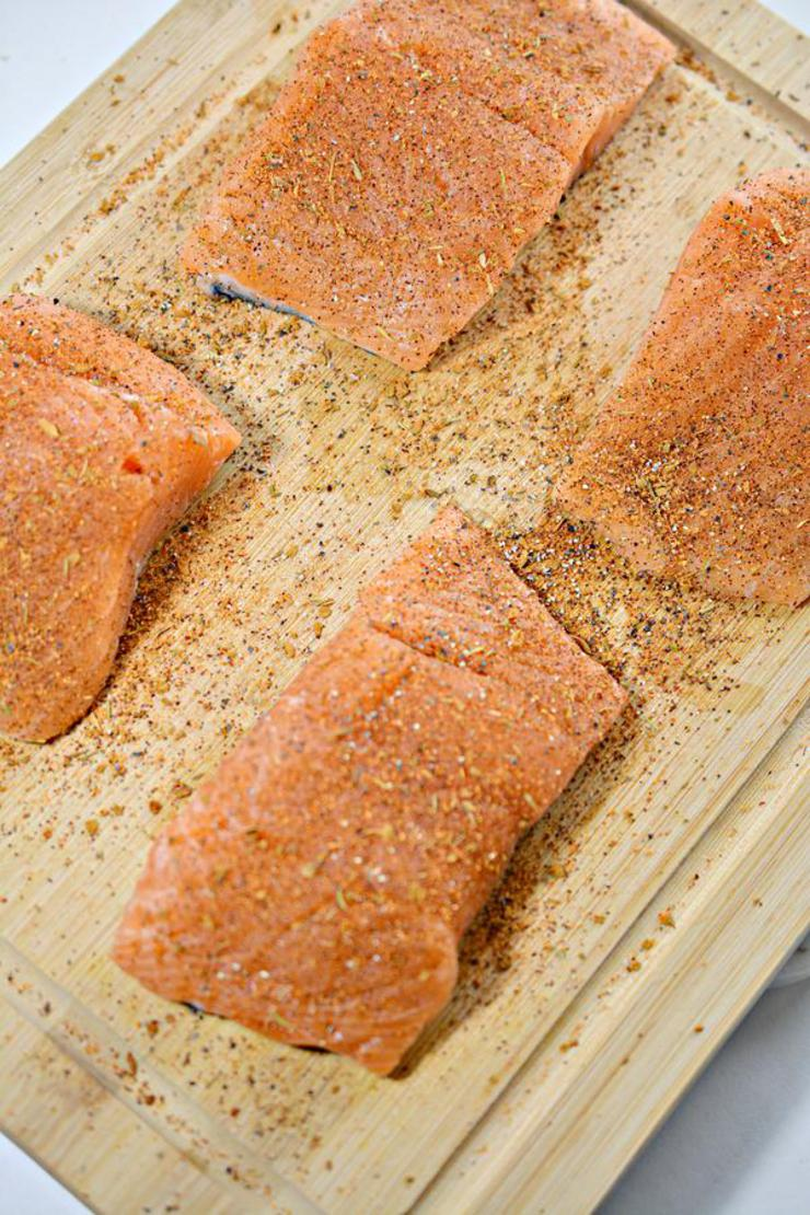 Keto Honey Garlic Salmon