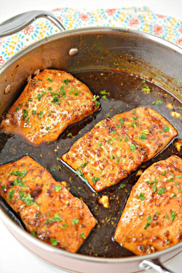 Keto Salmon – BEST Low Carb Honey Garlic Salmon Recipe {Easy – Homemade} Gluten Free Baked Fish