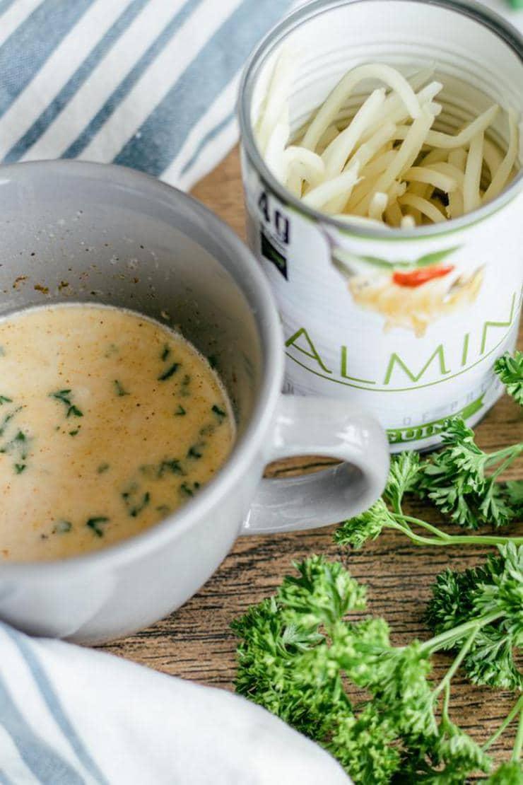 Keto Microwave Fettuccine Alfredo In A Mug
