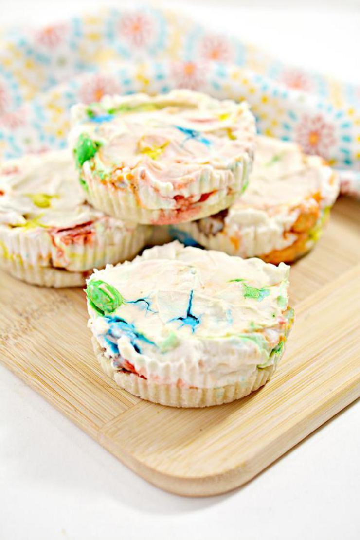 Keto Cheesecake – BEST Low Carb Keto Monster Cookie Cheesecake Bites – No Bake Easy – Snacks – Desserts – Gluten Free - Sugar Free