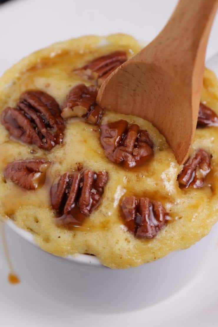 BEST Keto Mug Cakes! Gluten Free Low Carb Microwave Pecan Pie In A Mug Idea – Quick & Easy Ketogenic Diet Recipe – Completely Keto Friendly Baking