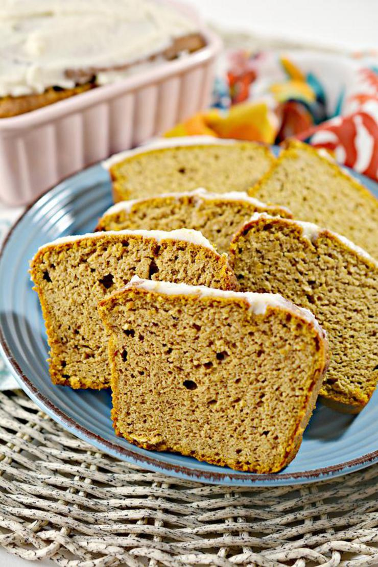 Keto Pumpkin Bread – Best Low Carb Pumpkin Recipe – Gluten Free - Fall Recipes for Halloween or Thanksgiving #fallrecipes #pumpkin
