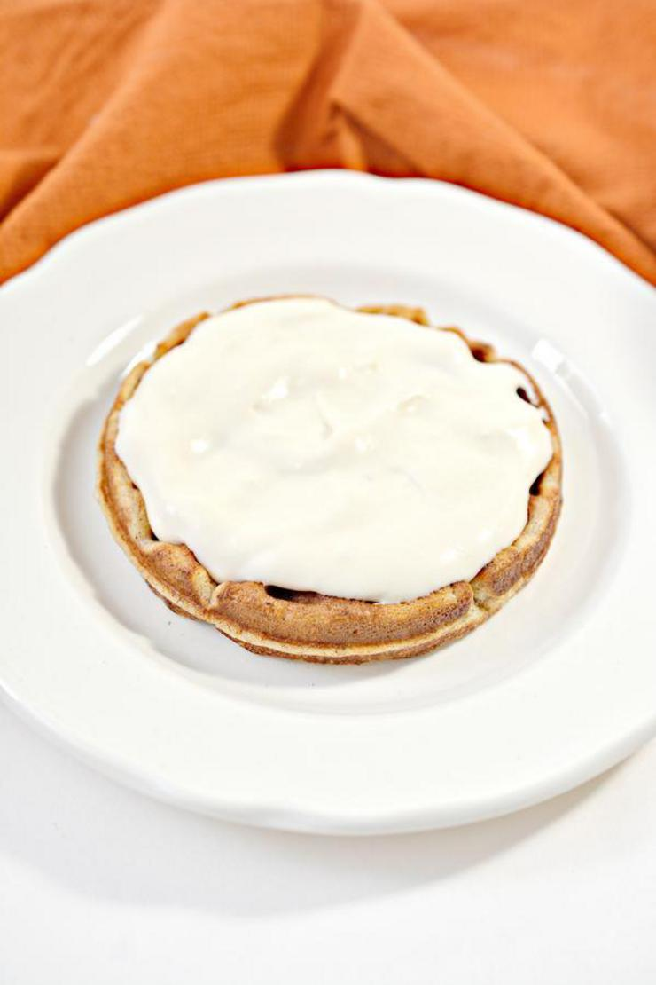 Keto Pumpkin Cheesecake Chaffle