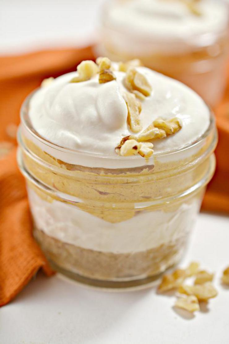 BEST Keto Pumpkin Cheesecake! Low Carb Keto Pumpkin Cheesecake In Mason Jar Idea – No Bake – Dessert – Treat – Snack – Sugar Free – Gluten Free