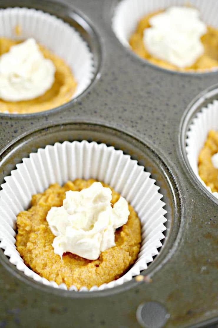 Keto Pumpkin Cream Cheese Muffins