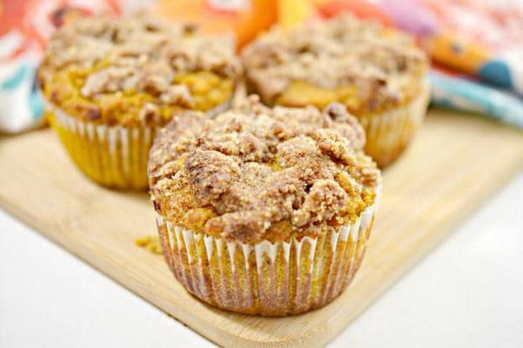 Keto Gluten Free Muffins - Low Carb Cream Cheese Pumpkin Muffin Idea - Homemade Ketogenic Diet Recipe - Quick & Easy