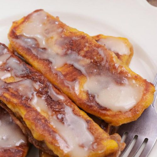 BEST Keto Pumpkin French Toast Sticks – Low Carb Keto Pumpkin French Toast Recipe – 90 Second Microwave Bread For Easy Ketogenic Diet French Toast