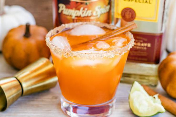 Alcoholic Drinks – BEST Thanksgiving Margarita Recipe – Easy and Simple On The Rocks Alcohol Drinks