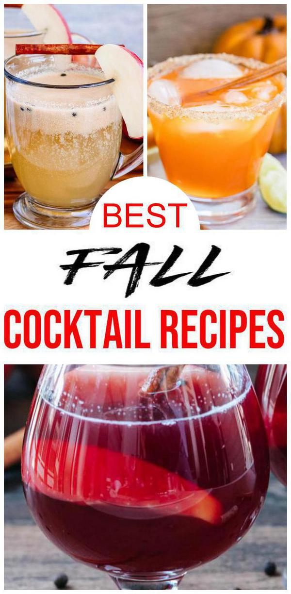 10 Fall Cocktails Easy Alcohol Drink Recipes Best Alcoholic Fall Drinks