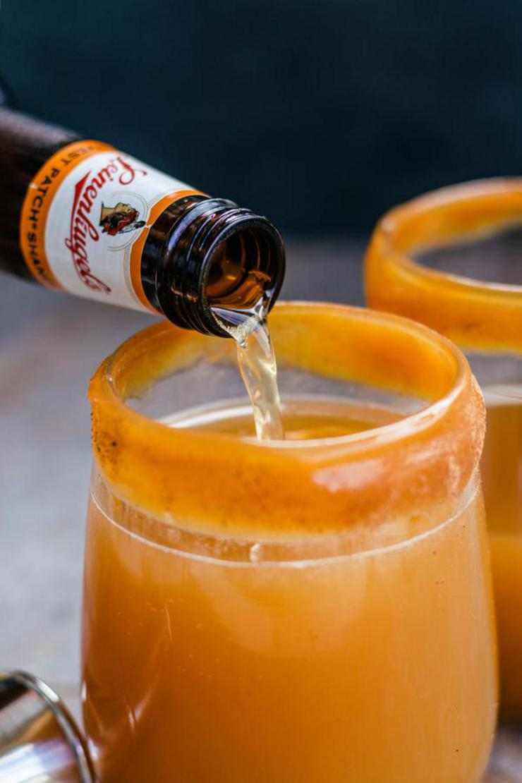 Alcohol Drinks Caramel Pumpkin Cider Cocktail