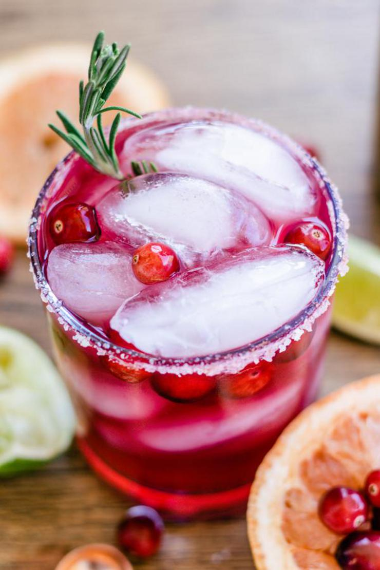 Alcoholic Drinks – BEST Christmas Margarita Recipe – Easy and Simple On The Rocks Alcohol Drinks