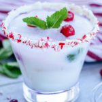 Alcoholic Drinks – BEST White Christmas Mojito Recipe – Easy and Simple On The Rocks Rum Alcohol Drinks - Winter Cocktails