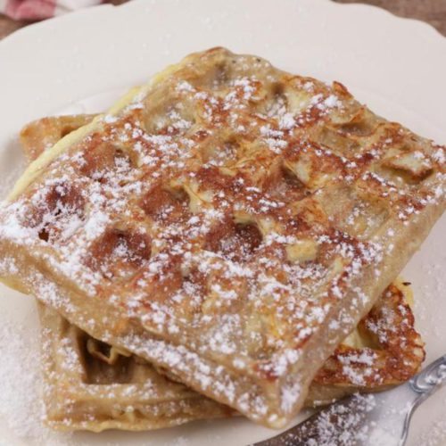 BEST Keto Waffles! Low Carb Keto Apple Pie French Toast Waffle Idea – Quick & Easy Ketogenic Diet Recipe – Completely Keto Friendly