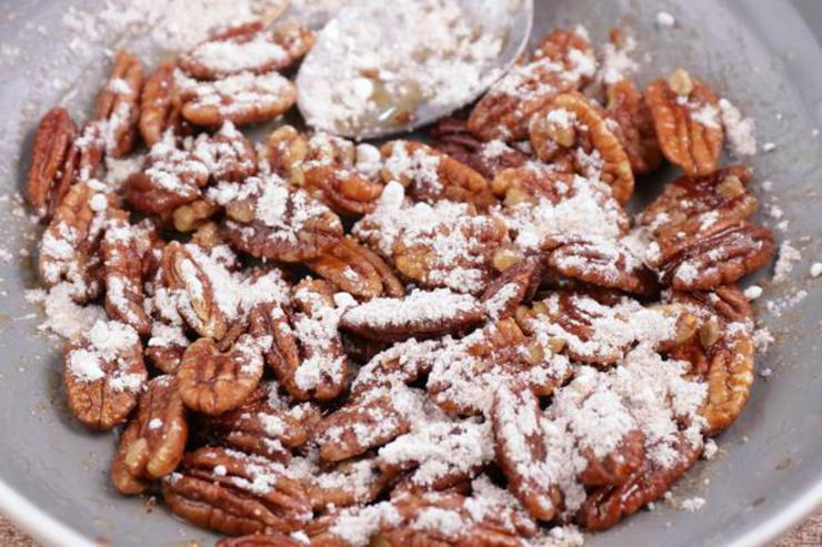 Keto Candied Churro Pecans