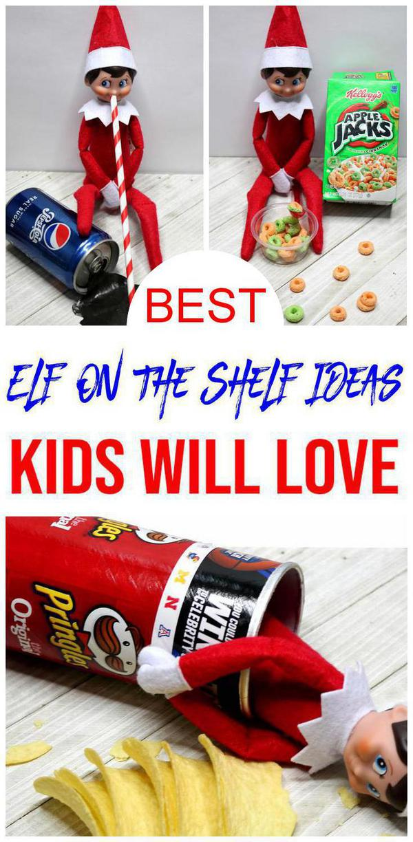 BEST Elf On The Shelf Ideas! Ideas For Kids That Are Easy – Food Ideas - Funny – Awesome – Creative – Arrival Ideas Too!