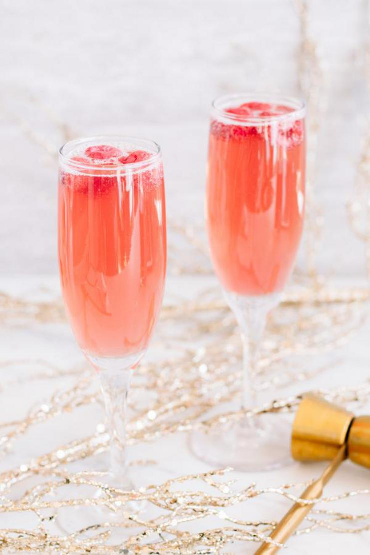Alcoholic Drinks – BEST Christmas Mimosa Recipe – Easy and Simple New Years Cocktail Drinks
