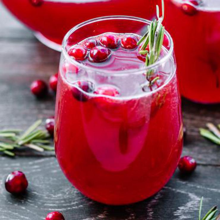 Alcohol Drinks Cranberry Holiday Punch