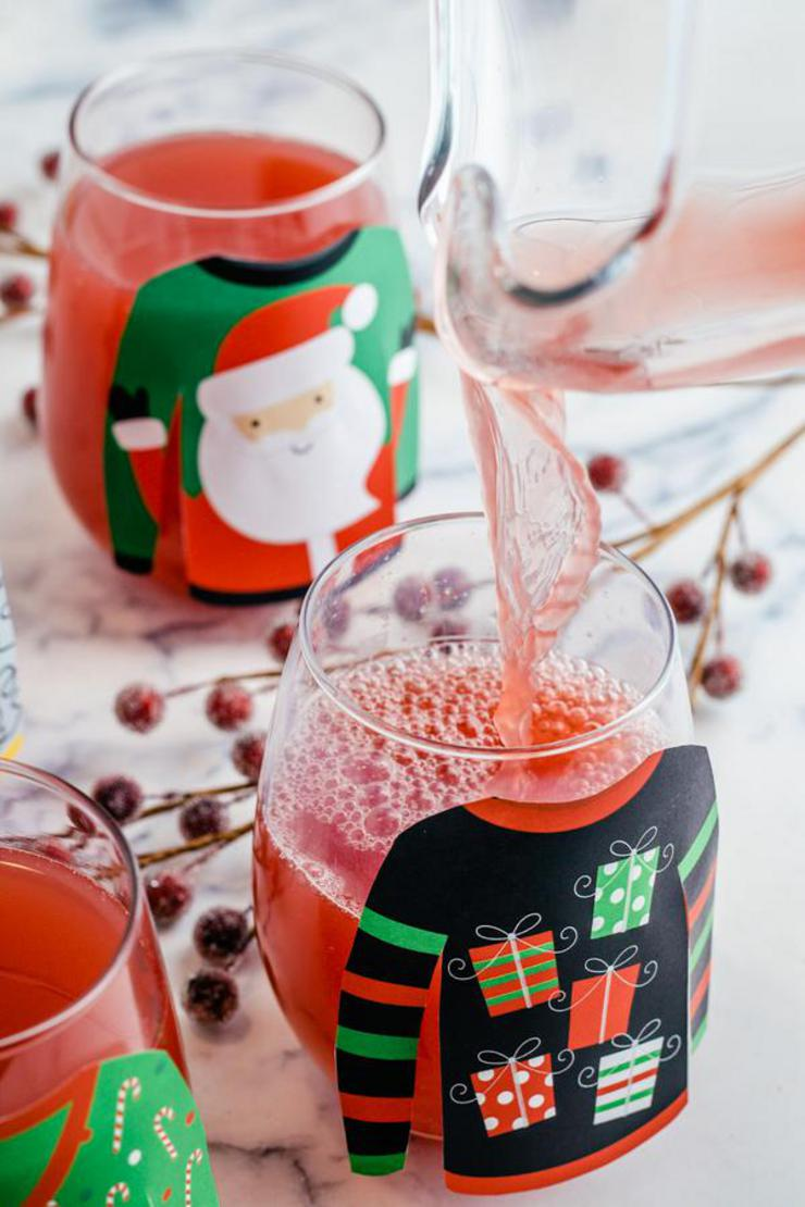 Alcohol Drinks Ugly Christmas Sweater Margarita Punch