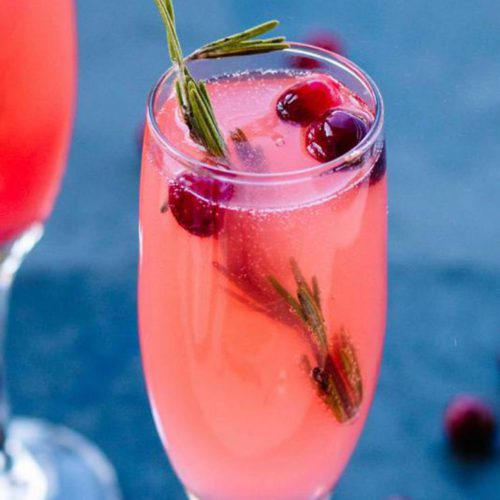 Alcoholic Drinks – BEST vanilla Cranberry Christmas Mimosa Recipe – Easy and Simple New Years Cocktail Drinks