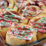 Easy Christmas Cinnamon Rolls - Christmas Morning Breakfast - Quick - Simple Christmas Cinnamon Roll Recipe