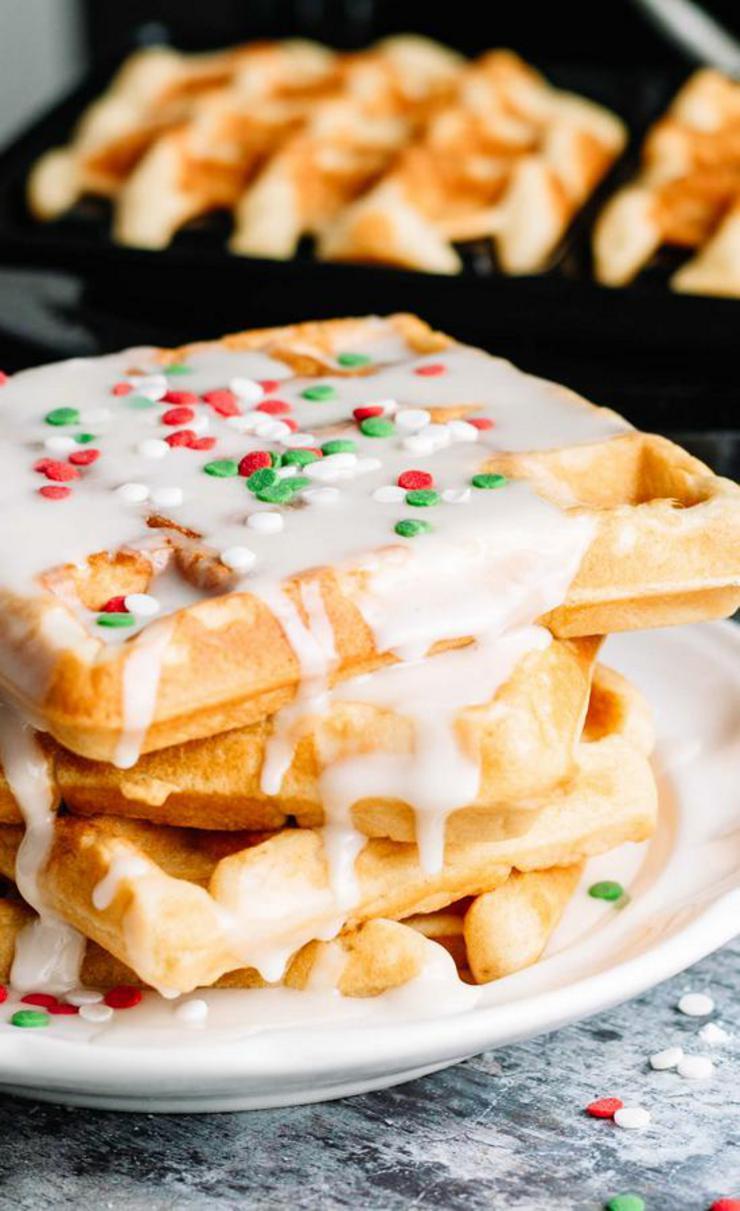 Christmas Glaze Donut Waffles