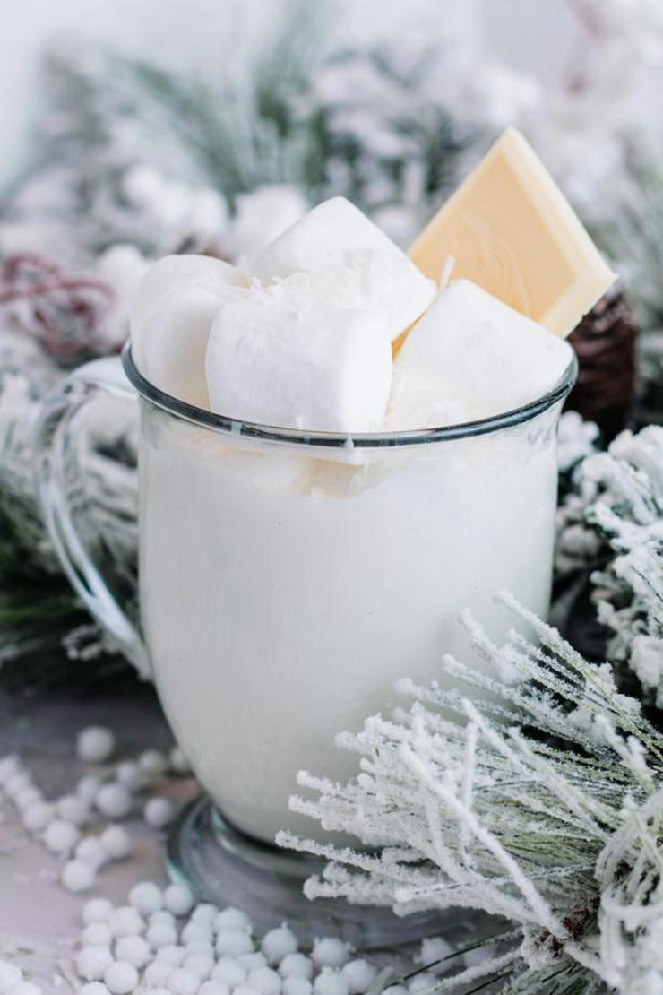 Hot Chocolate Drinks – BEST Creamy White Hot Chocolate Recipe – Easy and Simple Drink Idea
