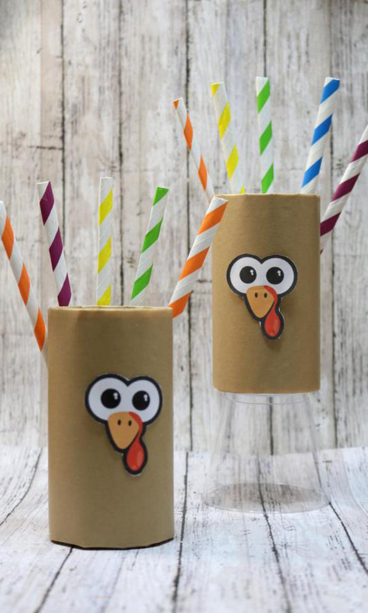 Turkey Crafts – BEST Soda Can Turkey Crafts – {Easy} Thanksgiving Kids Craft Idea