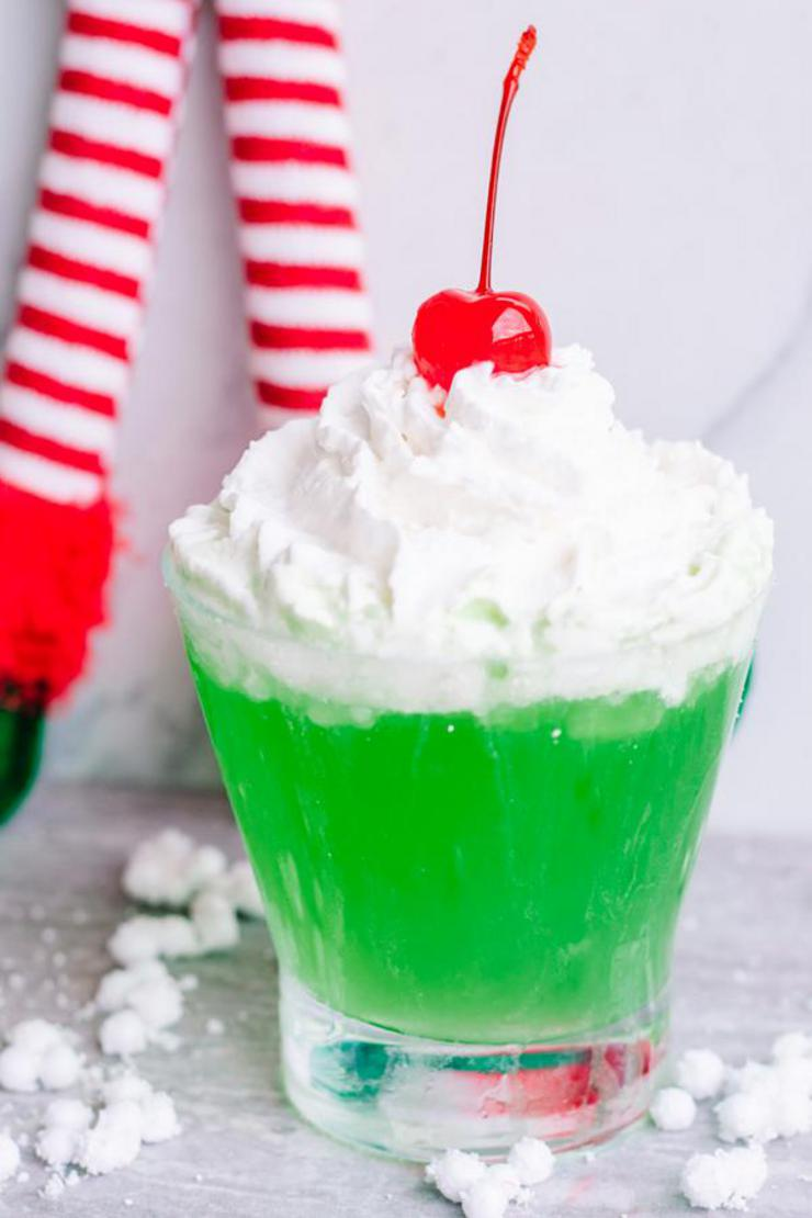 Grinch Mocktail – How To Make Grinch Punch – Easy & Quick Recipe – Fun Kids Juice – Party Idea – Grinch DIY