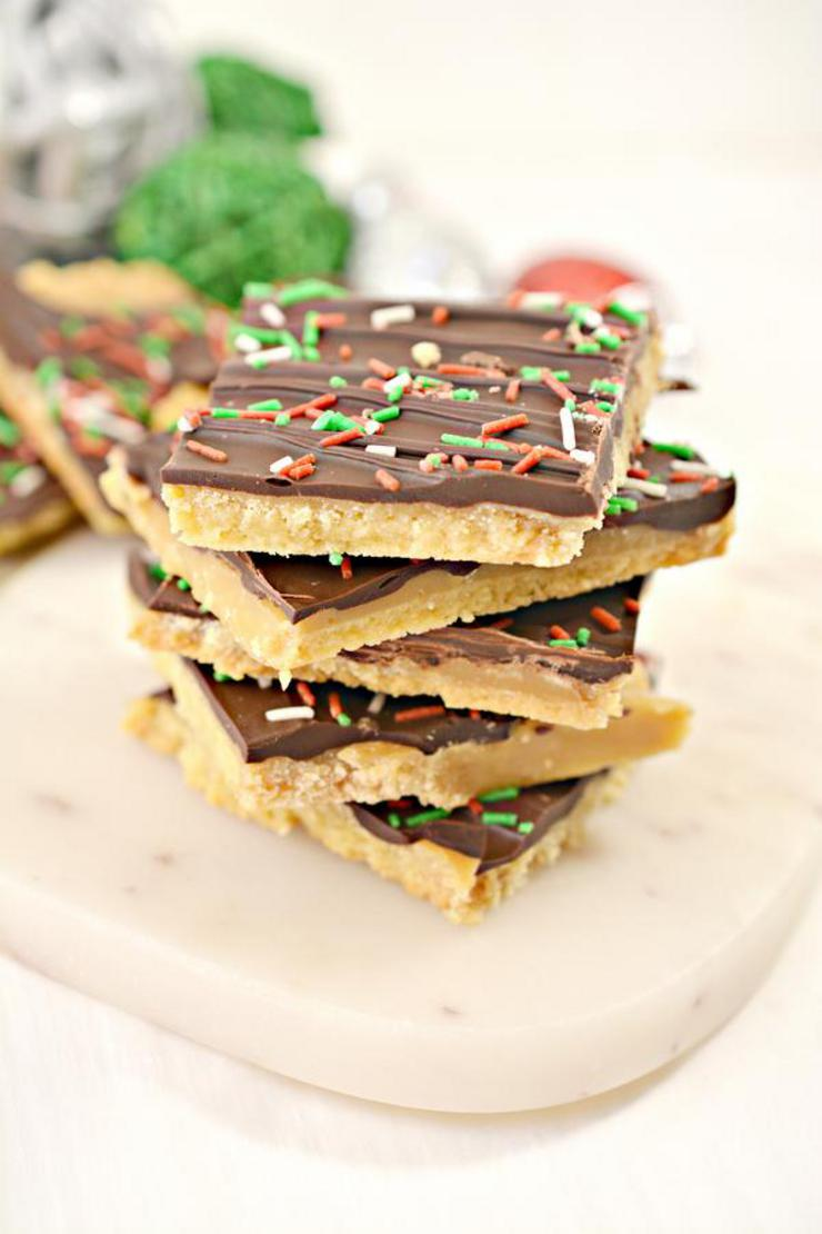 BEST Keto Christmas Crack - Easy Low Carb Toffee Crackers Recipe
