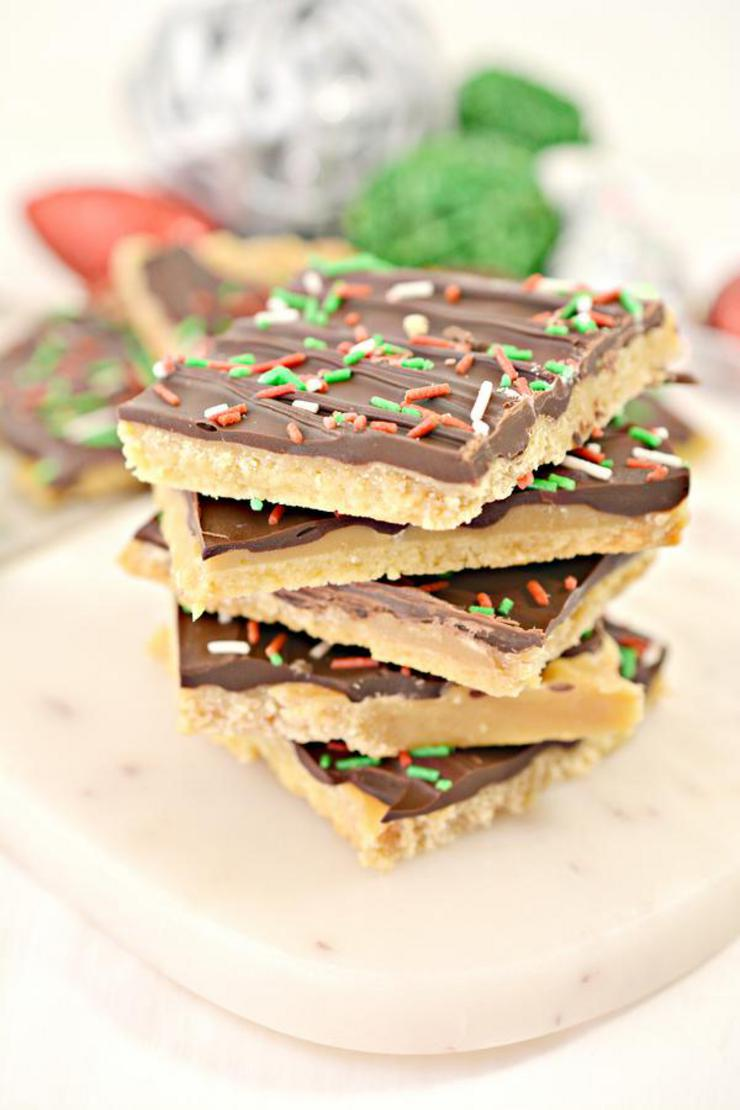 Keto Christmas Crack Low Carb Toffee Crackers