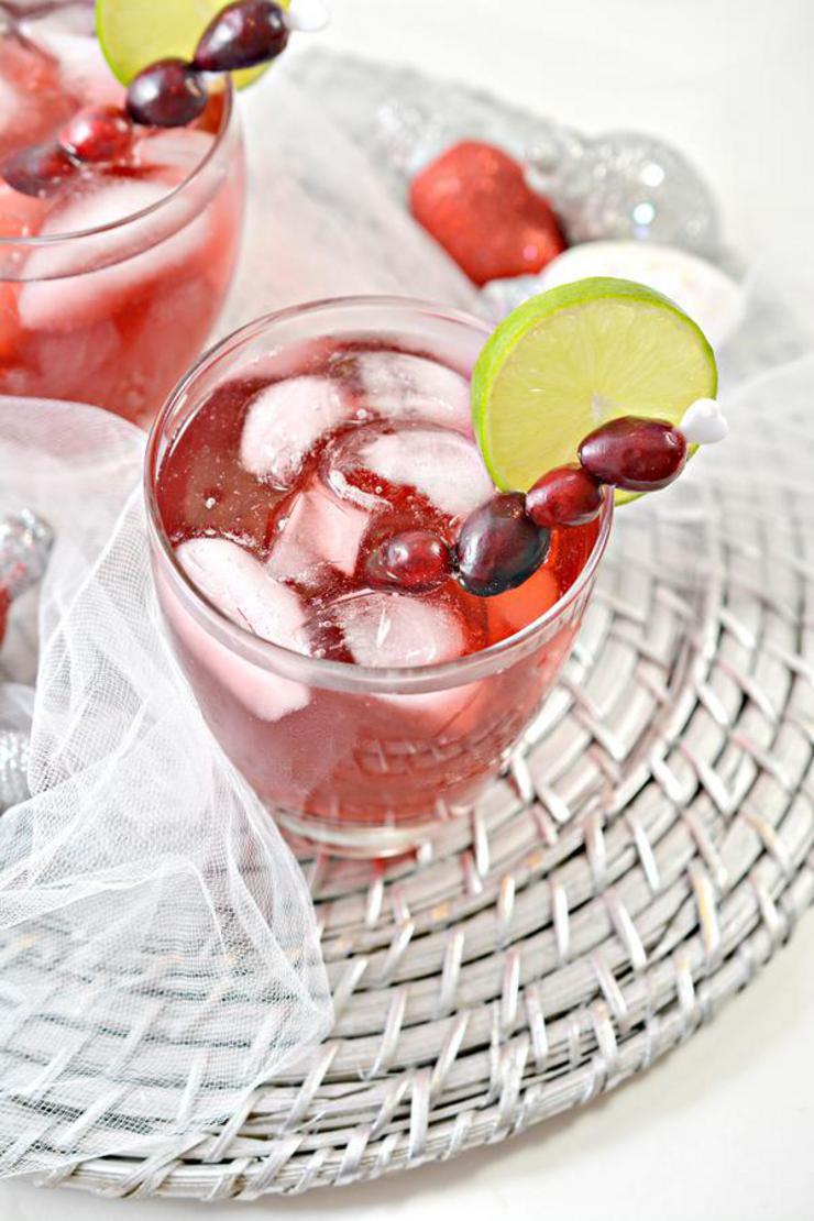 Keto Christmas Margarita
