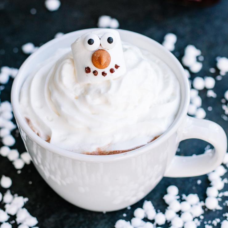 Melted Snowman Hot Chocolate
