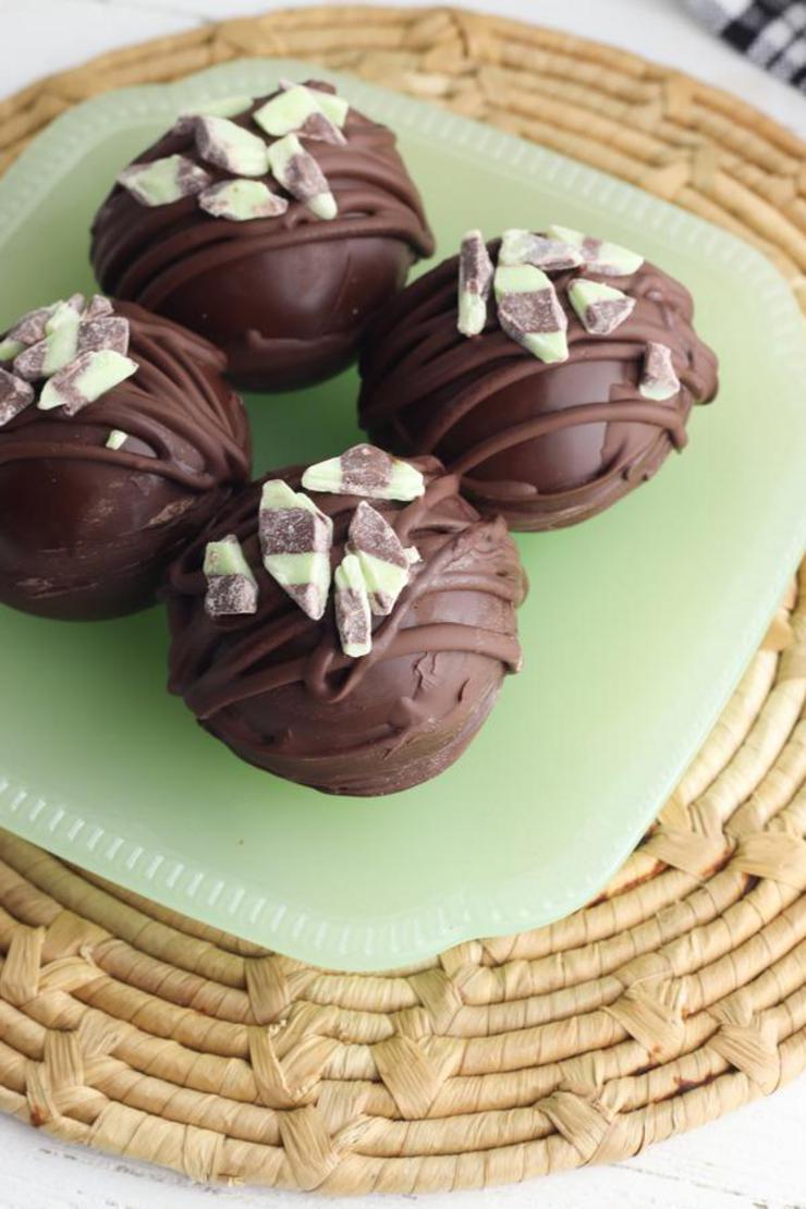 Mint Hot Chocolate Bombs