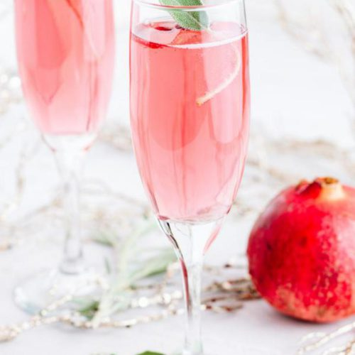Alcoholic Drinks – BEST Bubbly Pomegranate Champagne Recipe – Easy and Simple Cocktail Drinks