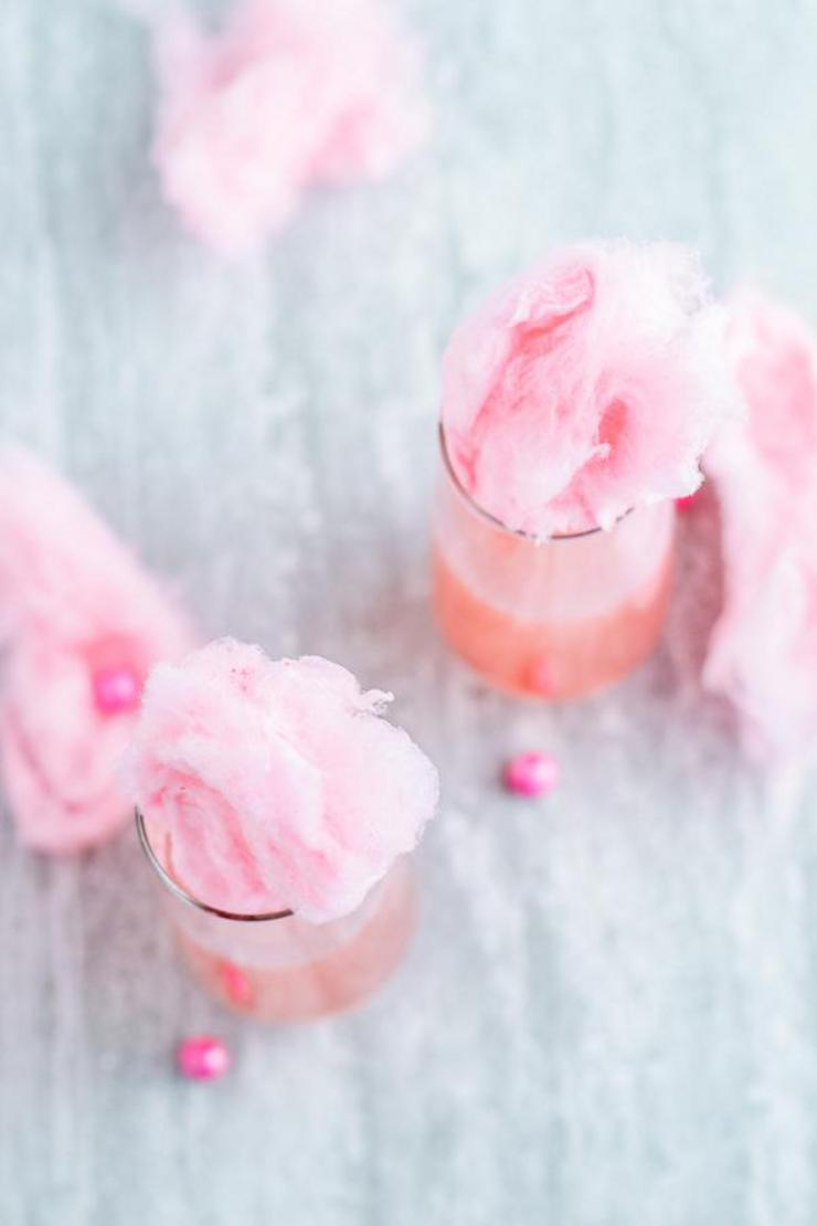 Alcohol Drinks Cotton Candy Champagne Cocktail
