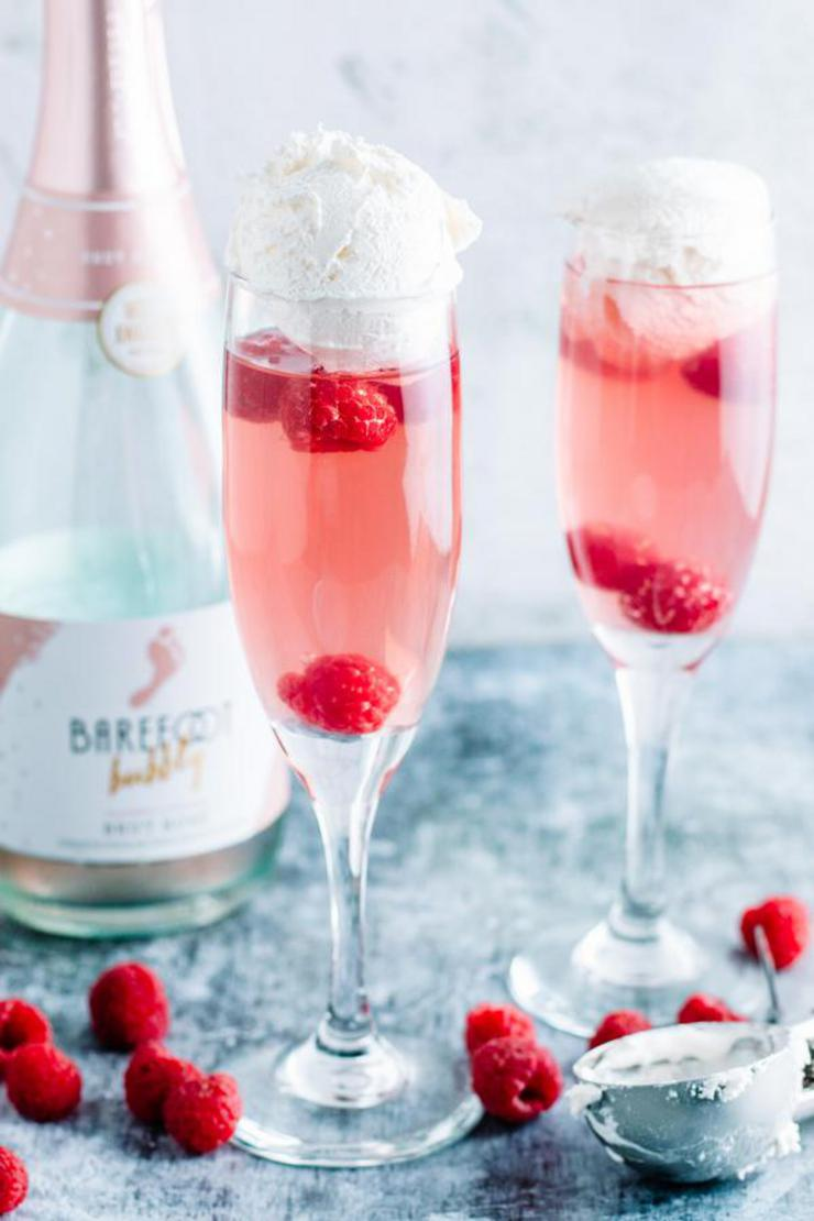 Alcohol Drinks Pink Champagne Float