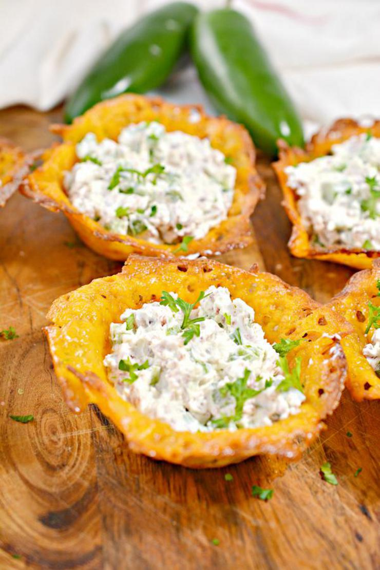 Keto Jalapeno Popper Cheese Cups