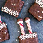 Santa Brownies – BEST Christmas Santa Brownies No Bake – {Easy} Holiday Brownies – Party Food – Desserts – Snacks