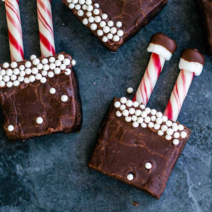 Santa Brownies
