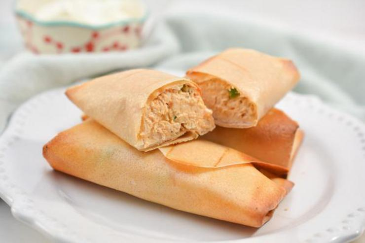 Keto Buffalo Chicken Egg Rolls