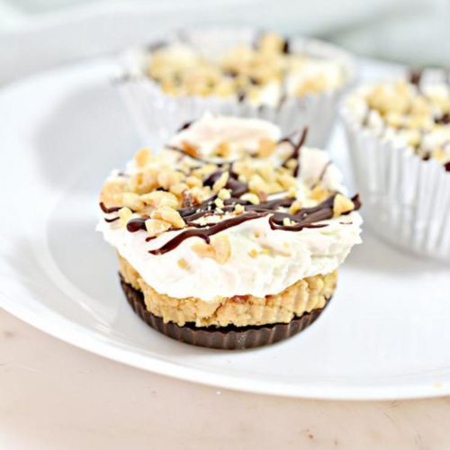 Keto Cheesecake – BEST Low Carb Keto Butterfinger Candy Cheesecake Cups– Easy – Snacks – Desserts – Keto Friendly & Beginner