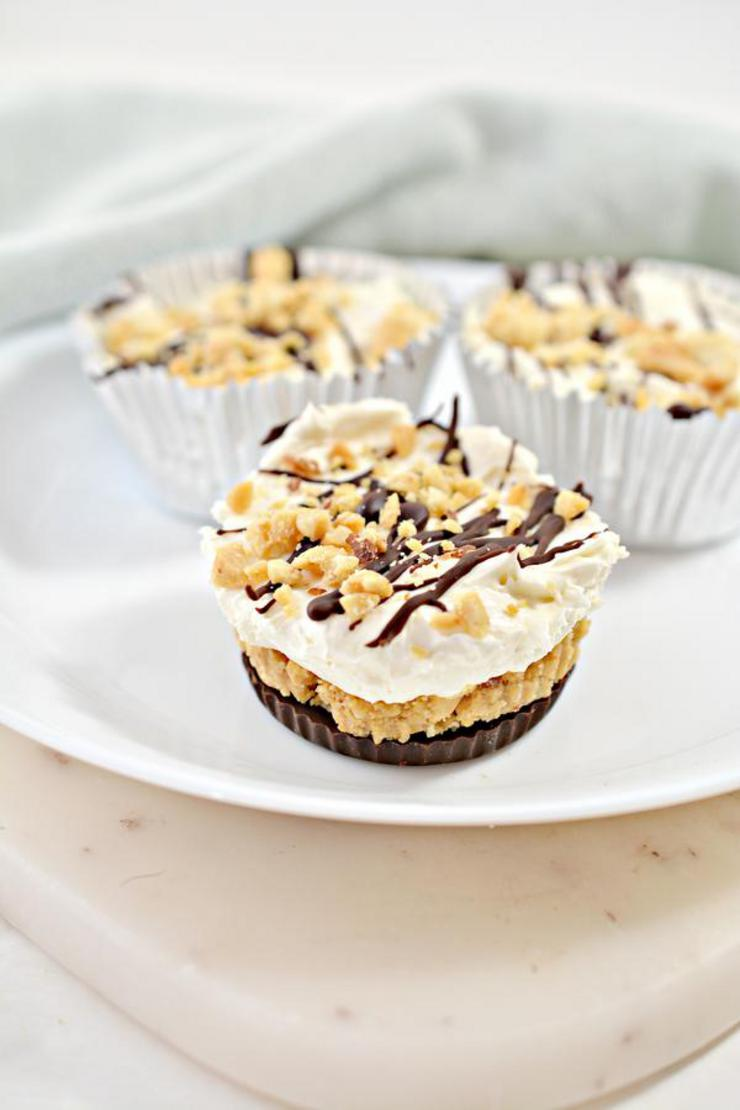 Keto Butterfinger Cheesecake Cups