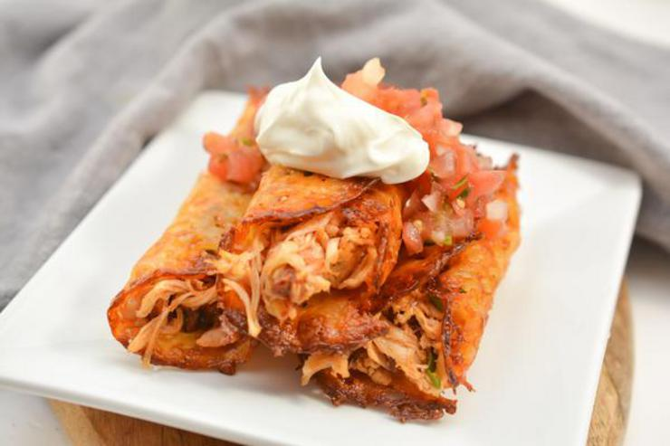 Keto Chipotle Chicken Taquitos