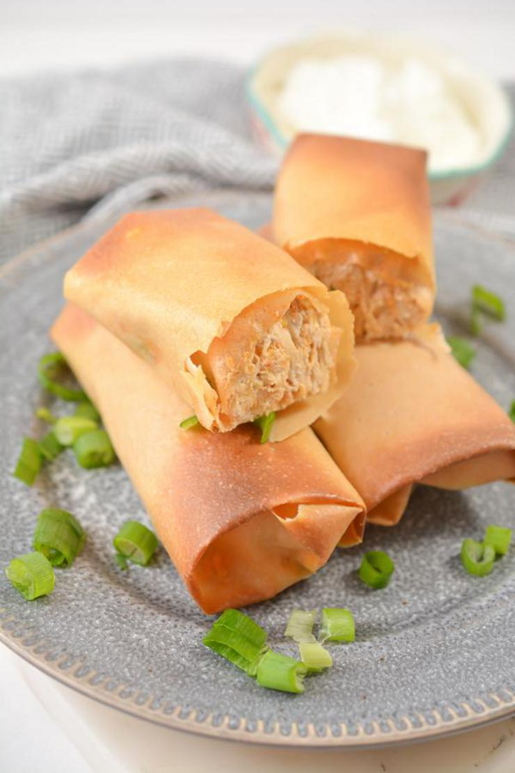 BEST Keto Taquitos – EASY Low Carb Keto Cream Cheese Chicken Taquitos Recipe – Tasty Keto Appetizers – Dinner – Lunch – Side Dishes – Party Finger Foods