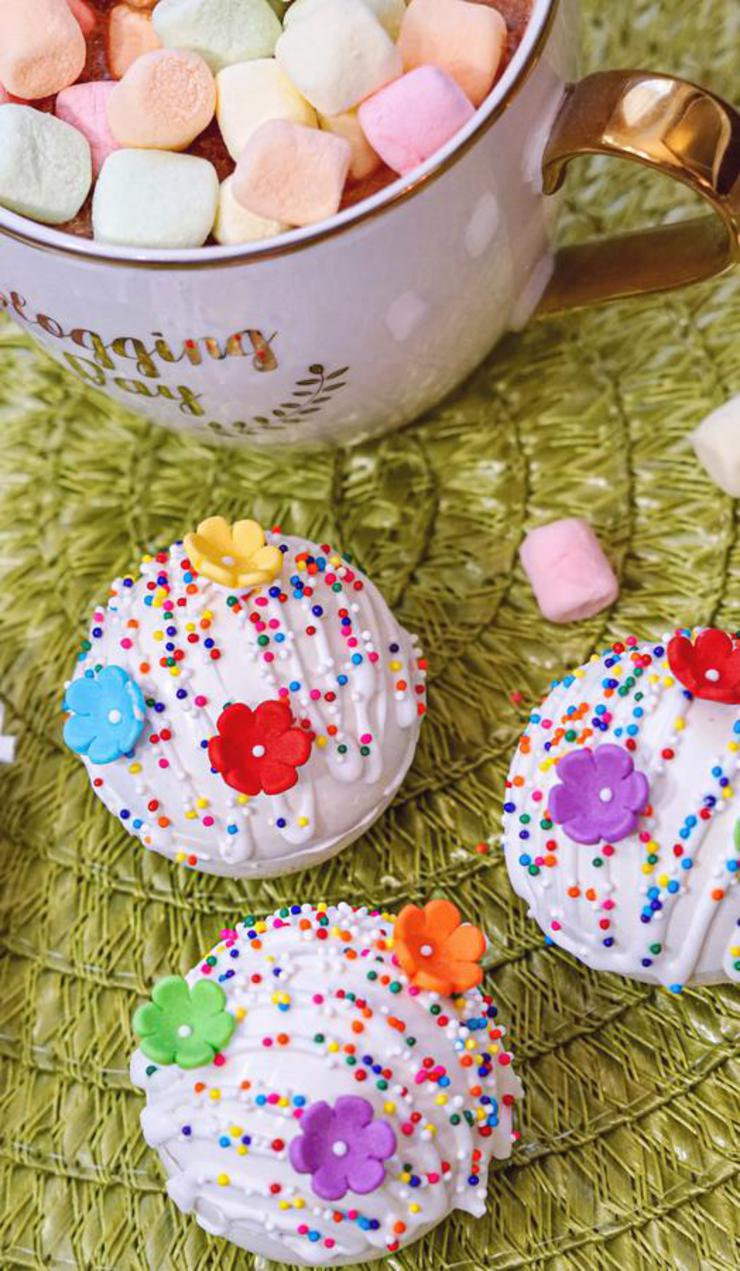 Rainbow Hot Chocolate Bombs