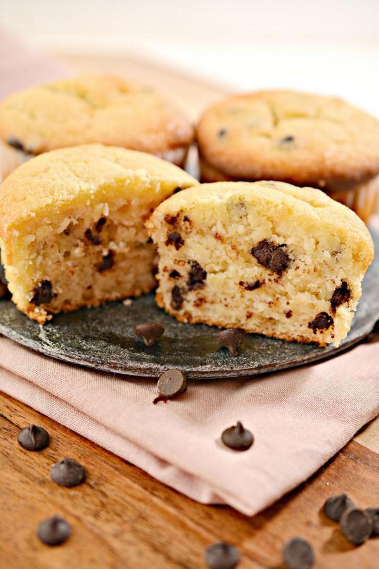Gluten Free Muffins – BEST Gluten Free Chocolate Chip Muffin Recipe – Breakfast – Snacks – Desserts